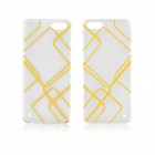 Angibabe 0.3mm TPU Protective Back Case for IPHONE 5 / 5S - Transparent + Yellow