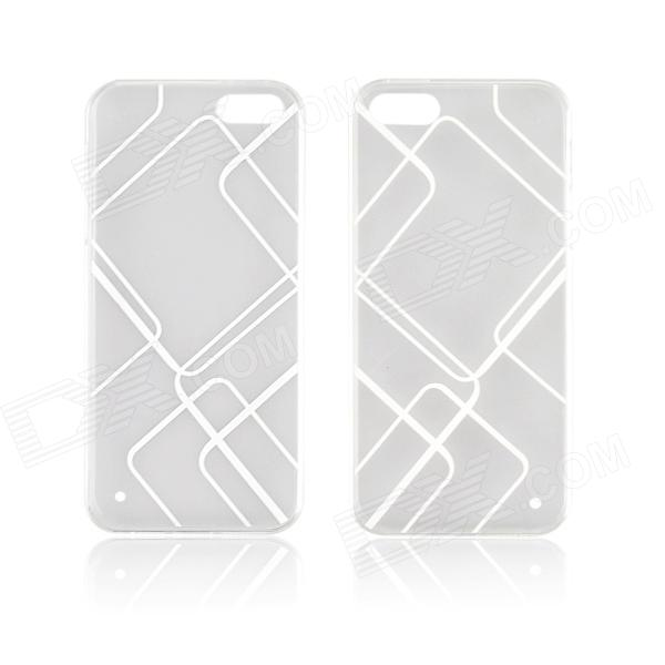 Angibabe 0.3mm TPU Protective Back Case for IPHONE 5 / 5S - White angibabe tpu shimmering powder protective back case for iphone 6 4 7 white