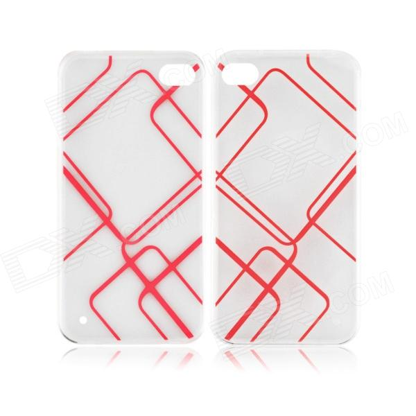 Angibabe 0.3mm TPU Protective Back Case for IPHONE 5 / 5S - Transparent + Red protective noctilucent tpu pc back case for iphone 5 red transparent