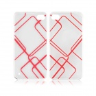 Angibabe 0.3mm TPU Protective Back Case for IPHONE 5 / 5S - Transparent + Red