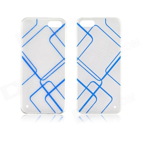 Angibabe 0.3mm TPU Protective Back Case for IPHONE 5 / 5S - Transparent + Blue