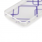 Angibabe 0.3mm TPU Protective Back Case for IPHONE 5 / 5S - Transparent + Purple