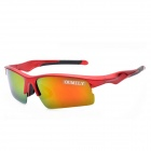OUMILY Sports Cycling Resin Lens UV400 Protection Polarized Sunglasses / Goggles - Red