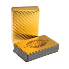 Table Games Playing Gold Foil Poker Cards - Golden