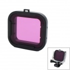 Underwater Dive Filter Converter for GoPro Hero 4 / 3+ - Black +Purple
