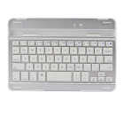 GC T002 Portable 59-Key Bluetooth V3.0 Keyboard for IPAD MINI / RETINA IPAD MINI - White + Silver
