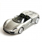 Porsche 918 Genuine 1:24 4-Channel Remote Control R/C Car w/ LED Light - Silver