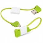 Key Chain Style Micro USB Data Cable for Samsung / HTC - Green