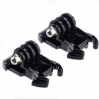 JUSTONE Fast Assembling Mount Buckle for GoPro Hero 2 / 3 / 3+ / SJ4000 - Black (2 PCS)