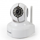"Sricam AP011 1/4"" CMOS 1.0MP Wireless IP Camera w/ 11-IR-LED / Wi-Fi / IR-CUT / TF - White + Black"