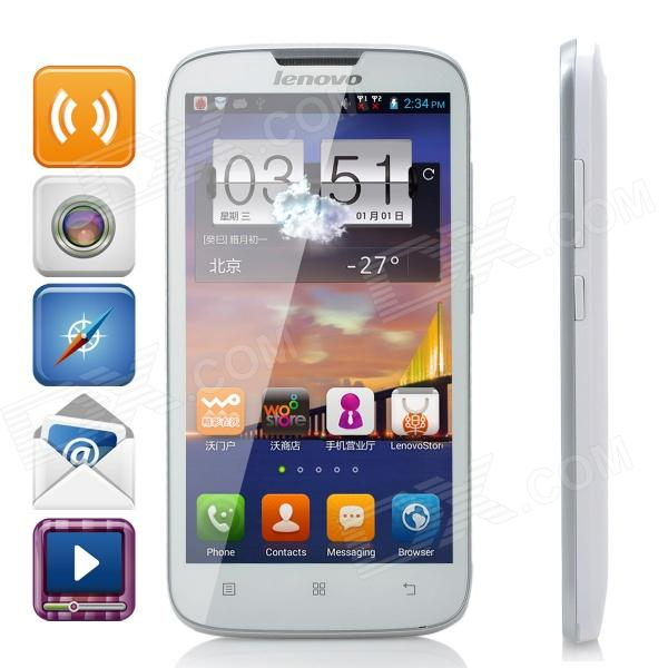 Lenovo A560 Quad-core Android 4.3 WCDMA Bar Phone w/ 5.0 Screen, Wi-Fi and GPS - White zte q705u android 4 2 2 quad core wcdma bar phone w 5 7 screen wi fi and gps white
