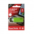 SanDisk CZ59 transportabel USB 2.0 glimtet kjøre - Green + Black (8GB)