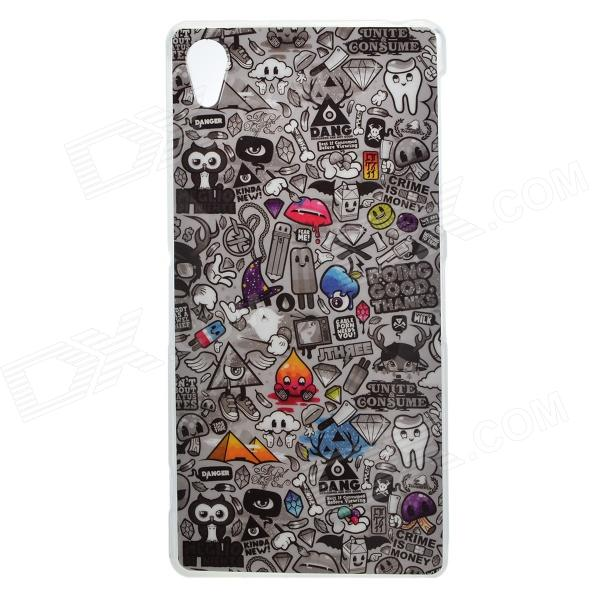 Protective Patterned TPU Back Case Cover for Sony Xperia Z2 / D6503 - Multi-colored 2 in 1 protective tpu pc back case for sony xperia z2 l50w white