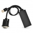 USB Powered VGA para HDMI HDTV conversor - preto