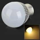 XUNRUIXING XRX-003 E27 3W 250lm 3000K 3-LED Warm White Light Bulb - White + Silver (AC 85~265V)