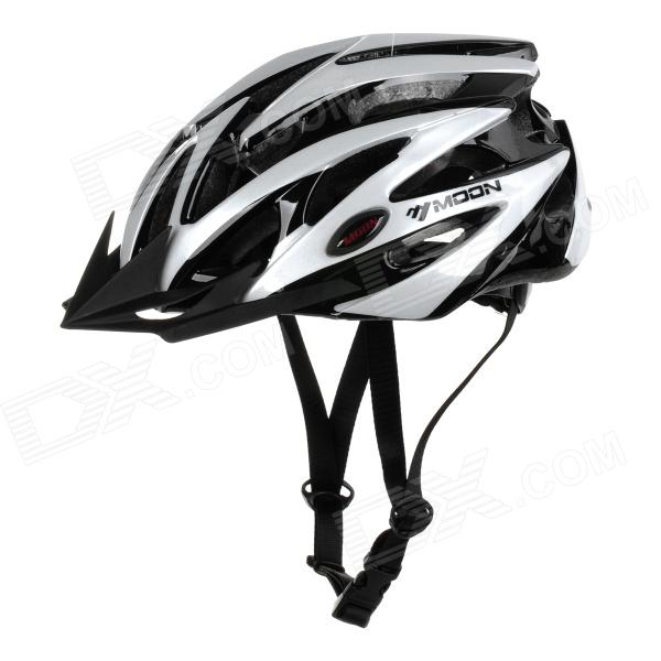 MOON BH-29 Stylish Protective PC + EPS Cycling Helmet - White + Black
