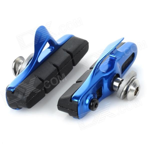 WARDER WBP-14 Replacement DIY Rim Brake Pad for Bicycle - Blue (Pair) for honda cb600f cb900f hornet cb1000r motorcycle upgrade front brake system radial brake master cylinder