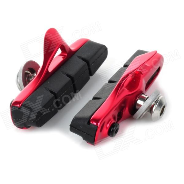 WARDER WBP-14 Replacement DIY Rim Brake Pad for Bicycle - Red (Pair) economic bicycle brake pads black 4 pcs