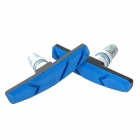 Soldier Replacement DIY Rim Brake Pad for Road / Mountain Bicycle - Black + Blue (2 PCS)