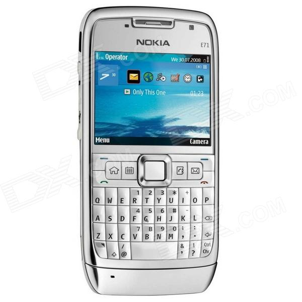 Nokia E71 2.4 Screen Symbian Single Core WCDMA Full Keyboard Smartphone - White + Silver nokia e71 tv деш вый бу