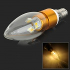 JRLED E14 4W 230lm 12-SMD 5730 LED kaltweiß / Weiß / Warm White Light Bulb - Gold (110 ~ 220V)