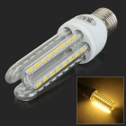 JRLED E27 12W 800lm 3300K 48-SMD 5730 LED Warm White Light Lamp - Transparent + White (AC 100~240V)