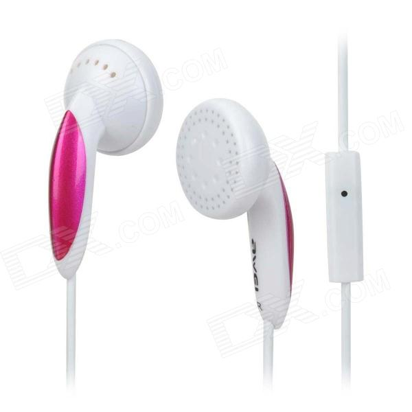 AWEI ES12i 3.5mm In-Ear Earphone - White + Deep Pink