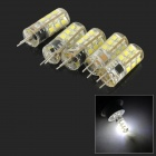 JRLED G4 2W 150lm 8000K 24-SMD 2835 LED Cool White Crystal Light Sources - Light Yellow (5 PCS)
