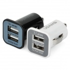 Universal 5V 3.1A Dual USB Car Charger Set - Branco + Preto