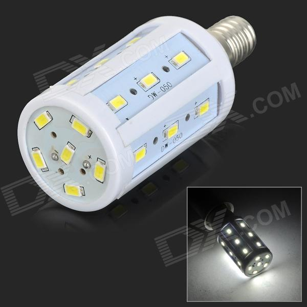 JRLED E14 5W 350lm 6500K 24-SMD 5730 LED White Corn Lamp - White + Silver (AC 220~240V) - DXE14<br>Small size; High brightness; Good choice for home decorative lighting<br>
