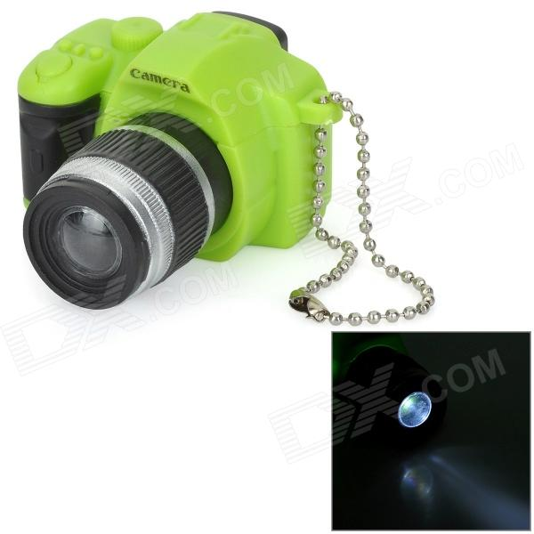 все цены на Camera Style  LED White Flashlight Keychain w/ Sound - Green + Black (3 x AG10) онлайн