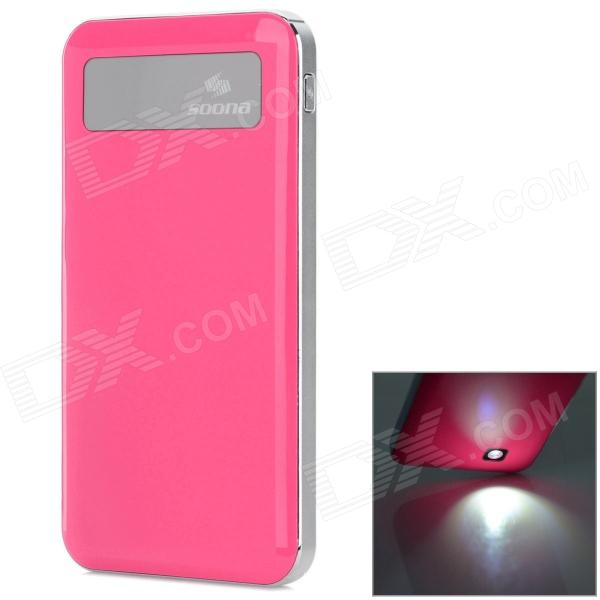 SOONA SNA8010 Universal OLED Screen 6500mAh External Li-polymer Battery Power Bank - Deep Pink