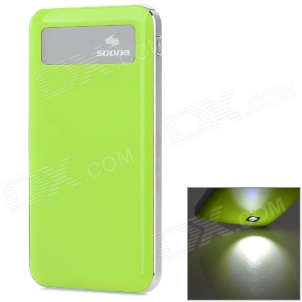 SOONA SNA8010 Universal OLED Screen 6500mAh External Li-polymer Battery Power Bank - Green