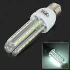 JRLED E27 12W 800lm 6300K 48-SMD 5730 LED White Light Lamp - Transparent + White (AC 100~240V)