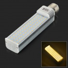 JRLED E27 14W 900lm 3300K 60-SMD 2835 LED Warm White Horizontal Lamp - Silver + White (AC 85~265V)