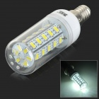 JRLED E14 6W 400lm 6300K 36-SMD 5730 LED White Corn Lamp - White + Transparent (AC 220~240V)