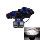 K83-2T6 900lm 3-Mode White Light Headlamp w/ 2 x Cree XM-L2 T6 - Blue + Black (2 x 18650)