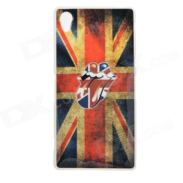 где купить Protective UK Flag Patterned TPU Back Case Cover for Sony Xperia Z2 / D6503 - Multi-colored дешево