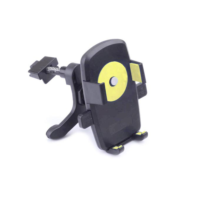 360' Rotation Car Air Conditioning Vent Mounted Holder Bracket for Cellphone / GPS - Black + Yellow