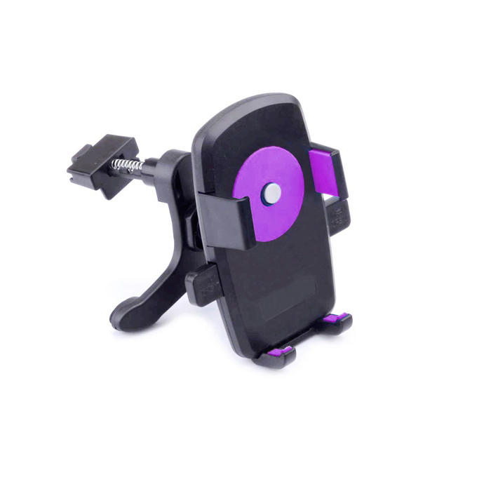 360' Rotation Car Air Conditioning Vent Mounted Holder Bracket for Cellphone / GPS - Black + Purple