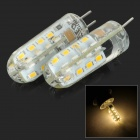 JRLED G4 3W 260lm 3300K 32-SMD 3014 LED Warm White Crystal Light Sources - White (2 PCS / 220~240V)