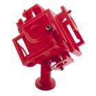 JUSTONE 3D Printing 360 Degrees Panoramic View Video Mount Holder for GoPro Hero 3/3+ - Red