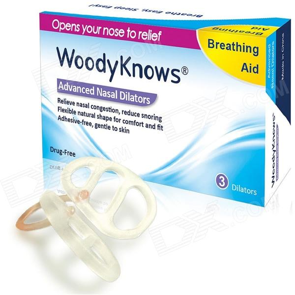 WoodyKnows Nasal Dilators for Nasal Congestion, Snoring, Snore Stopper, Sleep Apnea Relief (Size S)