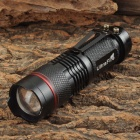 UltraFire Luminus 3W LED 100lm 3-Mode White Zooming Flashlight - Black + Red (1 x 14500 / AA)
