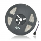 JRLED Waterproof 144W 7200lm 300-SMD 5050 LED RGB Light Strips - Black + White (DC 12V / 5M / 2 PCS)