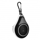 Waterproof Wireless Bluetooth V3.0 Car Speaker w/ Suction Cup - Black + White + Multi-Color