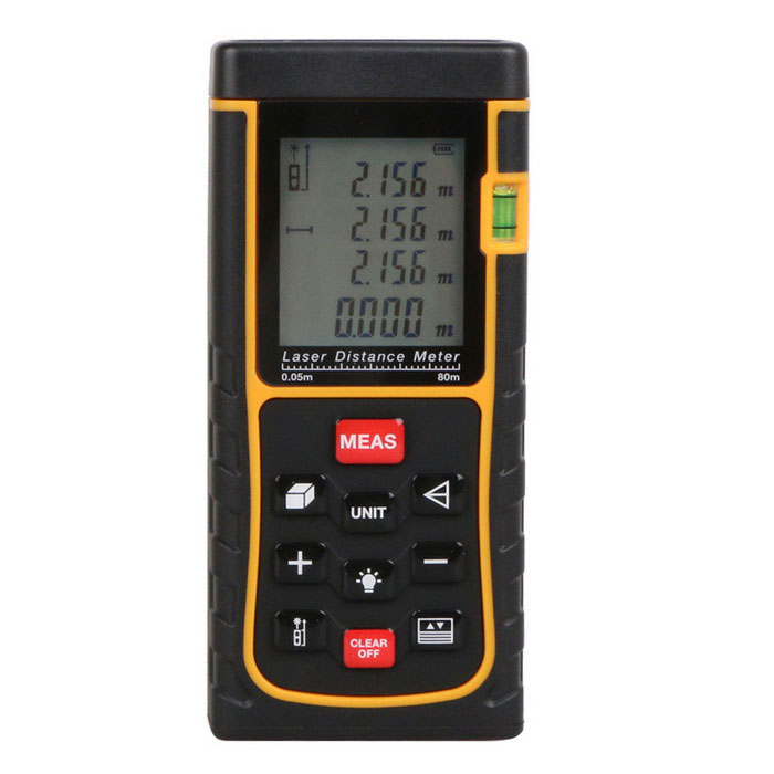 RZ-E80 80m 1.8 Laser Distance / Area / Volume Meter w/ Bubble Level - Black + Yellow (3 x AAA) yes yes relayer cd dvd