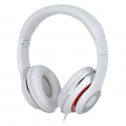 Kanen ip-980 3.5mm Headband Headphone w/ Microphone - White + Red