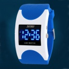 SKMEI 0951 Fashion 30m Waterproof Arc Digital LED Wrist Watch - Blue + White (2 x CR1616)