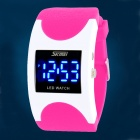 SKMEI 0951 Fashion 30m Waterproof Arc Digital LED Wrist Watch - Deep Pink + White (2 x CR1616)